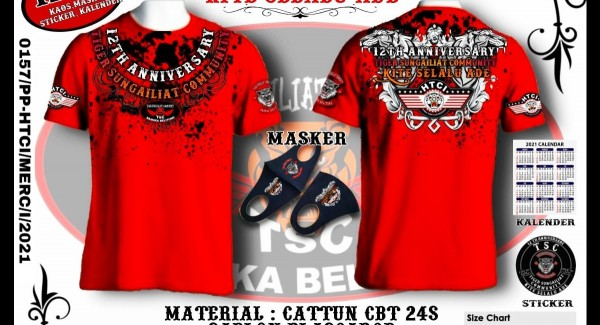Official Merchandise 12th Anniversary TSC Bangka Belitung