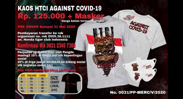 Official T-Shirt Fight Covid-19 (Free Masker Keren)
